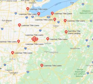 Title Loans Ohio Map of Locations Stores near ME